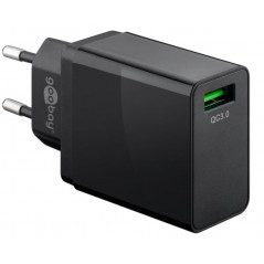 Goobay Strömadapter med USB Quick Charge QC3.0 18W 3A