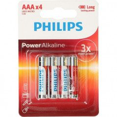 Philips AAA-batterier 4-pack